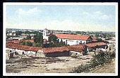 """view Picture postcard, """"San Buenaventura Mission, Calif., Founded 1782, Showing Old Wall Used as Protection Against Indians"""" digital asset number 1"""