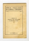 view Tests, Group of Entrance Examinations for Various Colleges digital asset: Examinaiton, Cornell University Samples of Entrance and Scholarship Examination Papers, 1911.