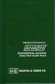 view Keuffel & Esser Analon Slide Rule Instruction Manual and Related Documentation digital asset: Keuffel & Esser Instruction Manual for AnaLon Slide Rule
