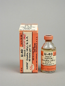 view U-40 Regular Iletin (Insulin, Lilly), USP, 10cc, List No. M-240 digital asset: U-40 Regular Iletin (Insulin, Lilly), U.S.P., 10cc, List No. M-240
