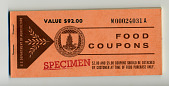 view food coupons digital asset: U.S. Department of Agriculture Food Coupons $92.00 booklet, front cover.