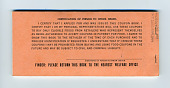 view food coupons digital asset: U.S. Department of Agriculture Food Coupons $112.00 booklet, back cover.