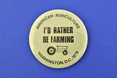view I'd Rather be Farming, Protest Pin digital asset number 1