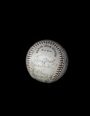 view Baseball, signed by the 1933 Detroit Tigers digital asset number 1