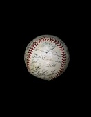 view Baseball, signed by the 1949 Detroit Tigers digital asset number 1