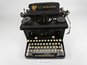 view L.C. Smith & Bros. No. 5 Typewriter digital asset: Without cover.