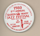 view 5th Annual Queen Mary Jazz Festival Button digital asset number 1
