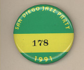 view San Diego Jazz Party Button digital asset number 1