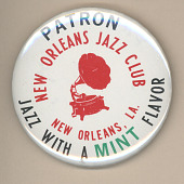 view New Orleans Jazz Club New Orleans Button digital asset number 1