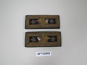 view Pair of General of the Army shoulder straps worn by William T. Sherman digital asset: Shoulder straps worn by General of the Army William T. Sherman