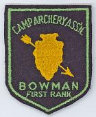 view Camp Archery Association Bowman First Rank Patch digital asset number 1