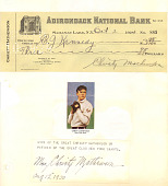 view Check, signed by Christy Mathewson. digital asset number 1