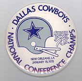 view Dallas Cowboys National Conference Champions Button digital asset number 1