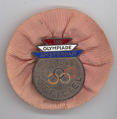 view Amsterdam Olympic Official Medal, 1928 digital asset number 1