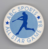view ABC Sports, All Star Game 1984 button digital asset number 1