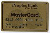 view Peoples Bank & Trust Company Mastercard -- Valid 08/82 thru 08/83 digital asset number 1