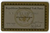 view Republican Presidential Task Force Membership Card -- Issued to V. Clain Stefanelli digital asset number 1