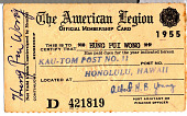 view Hung Pui Wong's American Legion Official Membership Card digital asset number 1