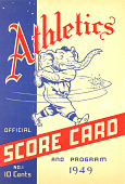 view Official Score Card, Philadelphia Athletics, 1949 digital asset number 1