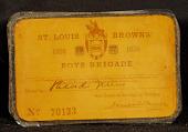 view St. Louis Browns Boys Brigade Identification Card digital asset number 1