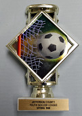 view Soccer trophy given to Kevin Rogers during the 1998 Jefferson County Soccer League season digital asset number 1