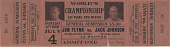 view Ticket for the World's Championship boxing match, Jim Flynn vs. Jack Johnson digital asset number 1