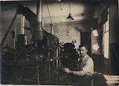 view man at typesetting machine digital asset number 1