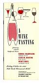 """view Pamphlet, """"A Wine Tasting,"""" Claremont Hotel, 1952 digital asset number 1"""