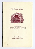 view Program, Vintage Tour, Society of Medical Friends of Wine, 1955 digital asset number 1
