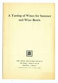 view Pamphlet, Wine Tasting, 1946 digital asset number 1