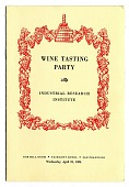 view Pamphlet, Wine Tasting Party, 1954 digital asset number 1