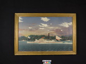 """view Oil Painting of the Paddlewheel Towboat """"America"""" by James Bard digital asset number 1"""
