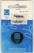 view Athens souvenir pin from the 2004 Athens Summer Olympic Games digital asset: Olympic pin, Athens 2004
