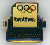 view Brother sponsor pin created for the Olympic Games digital asset: Brother olympic pin
