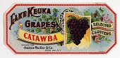 view Grape Basket Label, Lake Keuka Catawba digital asset number 1