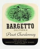 """view Wine bottle label, """"Bargetto's Pinot Chardonnay,"""" late 1940s digital asset number 1"""