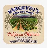 "view Wine bottle label, Bargetto's California Malvasia,"" 1940s digital asset number 1"