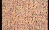 "view ""Sampler"" dress silk, Mallinson's George Washington Bicentennial print series digital asset number 1"