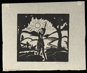 view The Prodigal Son digital asset: Woodcut by Benjamin Miller, 'The Prodigal Son,' 1924