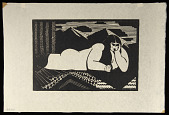 view Delilah digital asset: Woodcut by Benjamin Miller, 'Delilah,' 1924