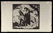 view Flight into Egypt digital asset: Woodcut by Benjamin Miller, 'Flight into Egypt,' 1924