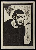 view Judas digital asset: Woodcut by Benjamin Miller, 'Judas,' 1924