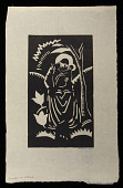 view Madonna and Child digital asset: Woodcut by Benjamin Miller, 'Madonna and Child,' 1924