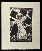 view On the Way to Calvary digital asset: Woodcut by Benjamin Miller, 'On the Way to Calvary,' 1924