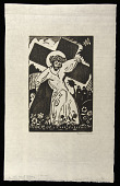 view On the Way to Calvary (variant) digital asset: Woodcut by Benjamin Miller, 'On the Way to Calvary,' 1924
