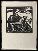 view Pieta digital asset: Woodcut by Benjamin Miller, 'Pieta,' 1924