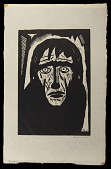 view The Prophet digital asset: Woodcut by Benjamin Miller, 'The Prophet,' 1924