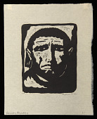 view Samson Brooding digital asset: Woodcut by Benjamin Miller, 'Samson Brooding,' 1924