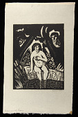 view Susanna and the Elders digital asset: Woodcut by Benjamin Miller, 'Susanna and the Elders,' 1924