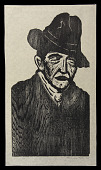view The Blind digital asset: Woodcut by Benjamin Miller, 'The Blind,' 1925